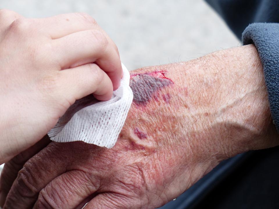 Curar una herida infectada