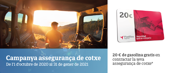 Targeta de gasolina de regal amb les assegurances de cotxe a tot risc de Plus Ultra Seguros